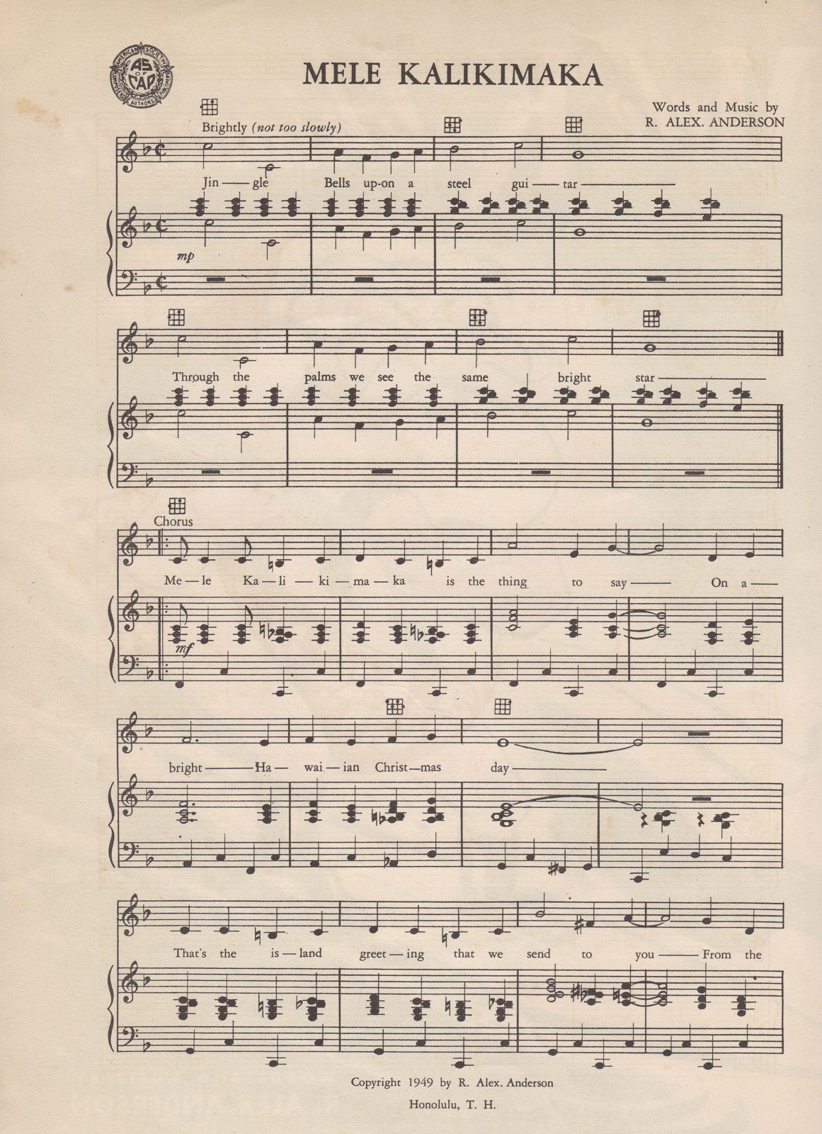 Hawaiian Sheet Music: \'Mele Kalikimaka\' | Pinterest | Christmas ...