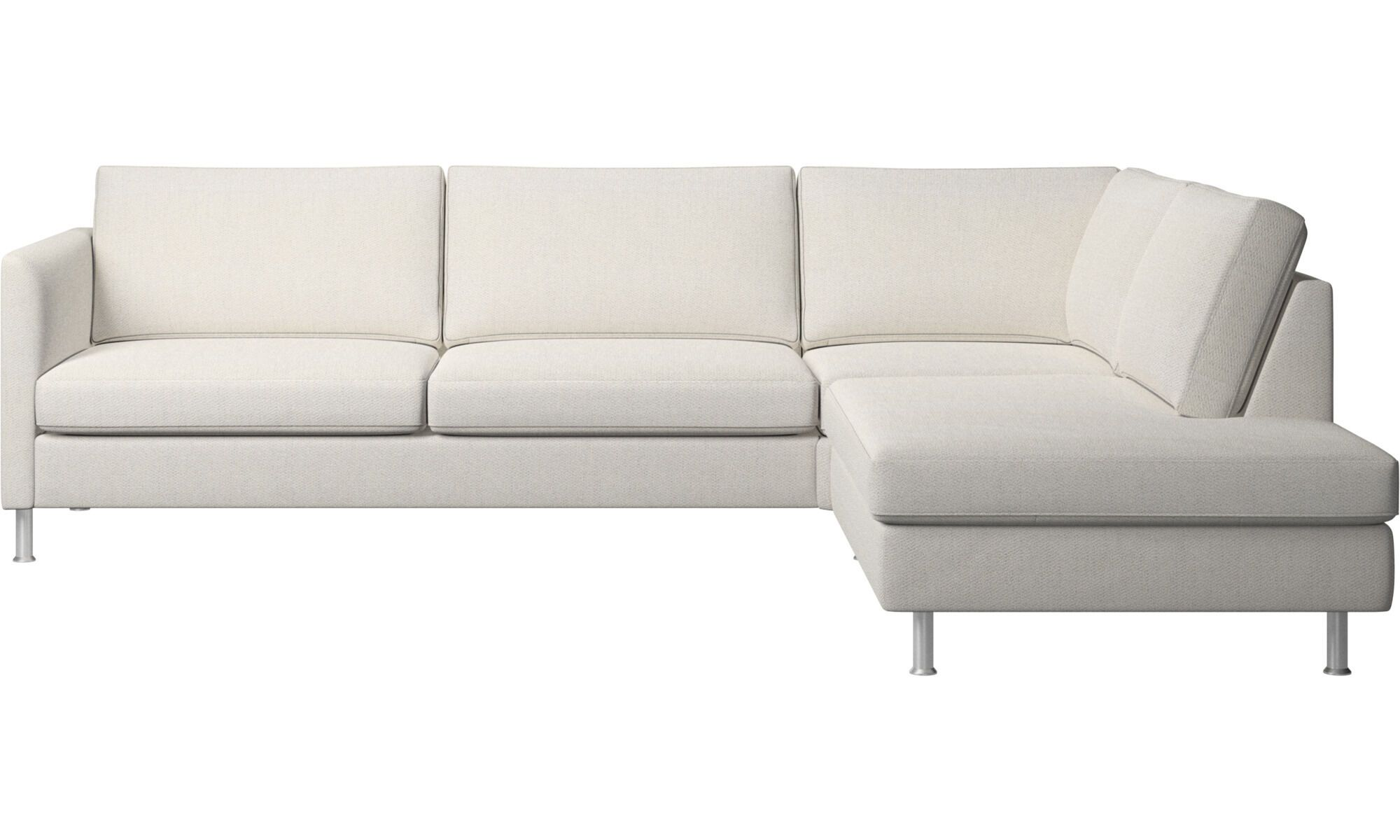 Lounge Sofas Indivi Ecksofa Mit Loungemodul Weiß Stoff Canapé Angle Canape Angle Gris Canapé
