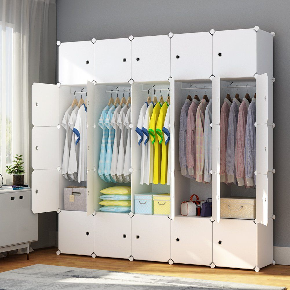Maginels Portable Closet Clothes Wardrobe Bedroom Armoire Storage