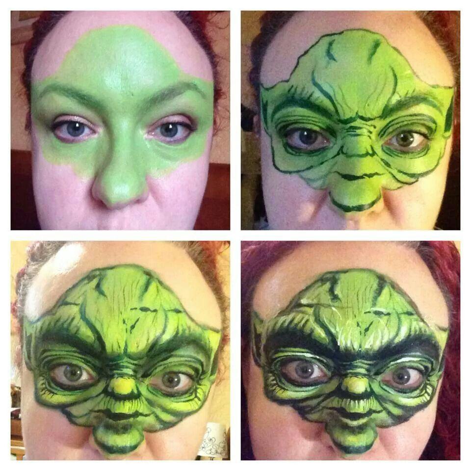 Fab yoda by maria garcia   Face & Body Art   Pinterest ...
