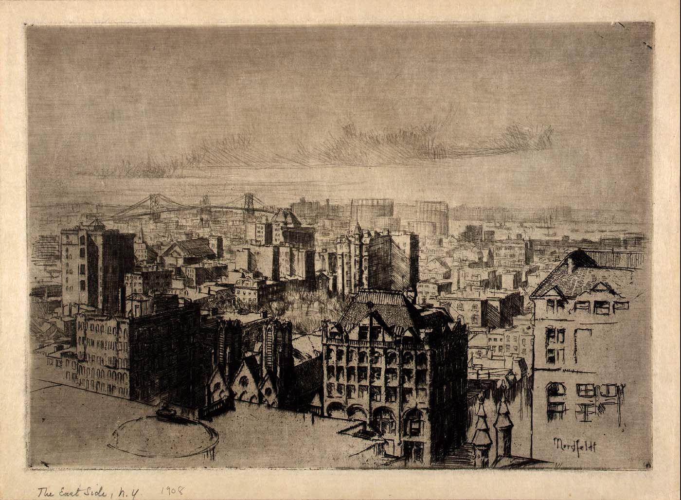 The East Side, 1908, B. J. O. Nordfeldt - Smithsonian American Art Museum