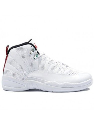 eaa235562239 130690 163 Nike Air Jordan 12 Retro Anniversary White   Red   Black ...