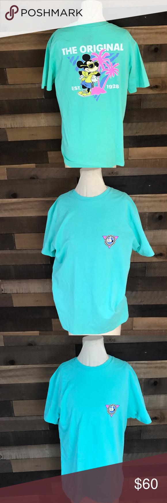 4fb0f9cab0 Disney Mickey vans teal shirt men s medium rare Vans x Disney Men s 90th  Anniversary Mickey Mouse T-Shirt Color  Teal   Bermuda Men s Medium Rare  shirt new ...