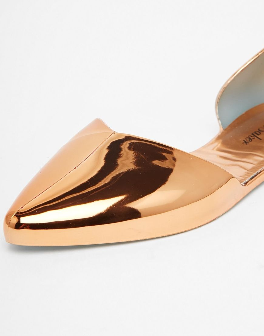 4d5204f68c36 Image 3 of Ted Baker Dawfodyl Metallic Jelly Two Part Point Flat Shoes