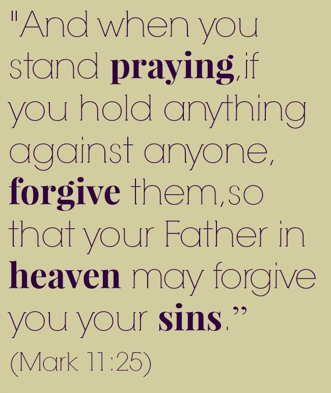 Bible Quote On #forgiveness Mark 11:25