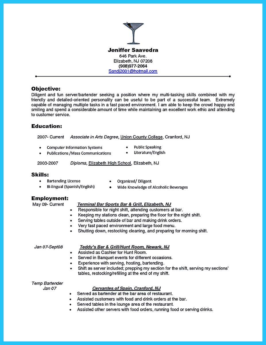 Server Job Description Resume Actually Not The Entire Jobs Of Server Require Resume For The