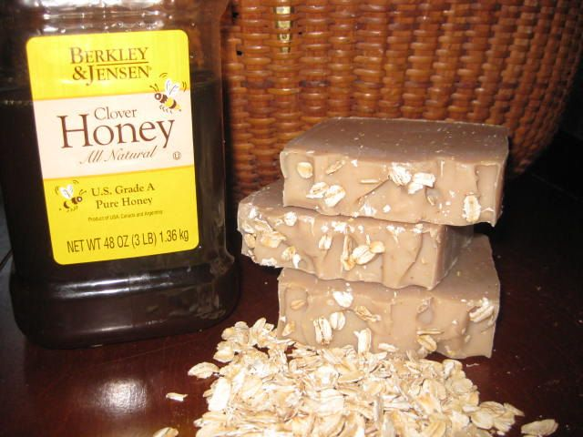 Goats Milk Honey Oatmeal Soap - New Hampshire Handmade Cold Process Soap Shea butter Soap Artisan Soap Oatmeal Soap-- (5.00 USD) by MapleBeeProducts