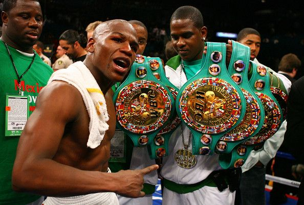 Floyd Mayweather Jr Boxing All Belts Autographed Signed A4 Print Poster Photo