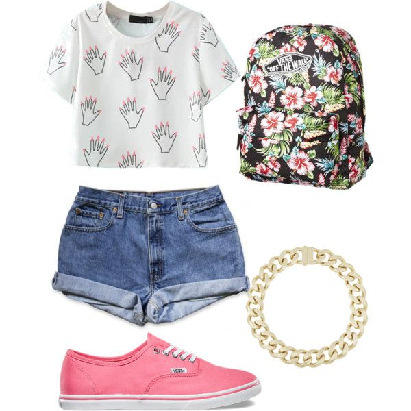 Summer by dkyra-1 on Polyvore featuring polyvore, fashion, style, Vans and Givenchy