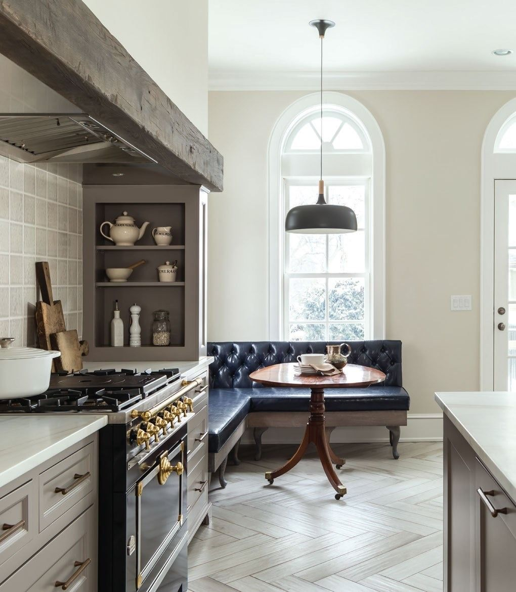 Kate Roos Design | fabulous kitchen with corner banquet and English ...