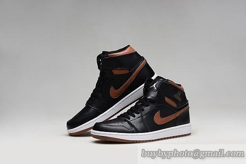 Men's Air Jordan 1 AJ1 Jordan1 Bsaketball Shoe A+ High Shoe Black Copper