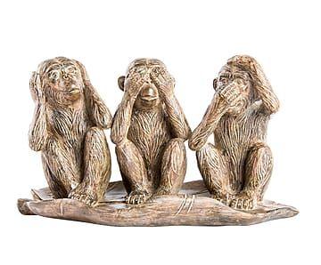 Figura decorativa en resina Monos