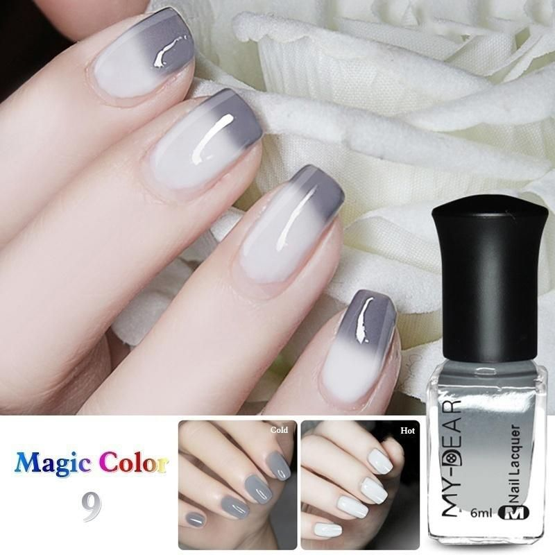 Off Bottle 6ml Thermal Nail Polish Color Changing Peel 1 Varnish ...