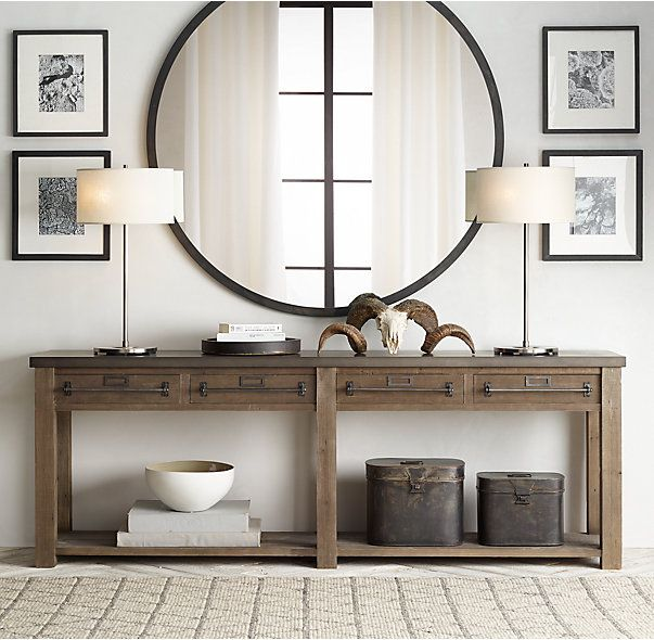 Best 25 Large Console Table Ideas On Pinterest Console