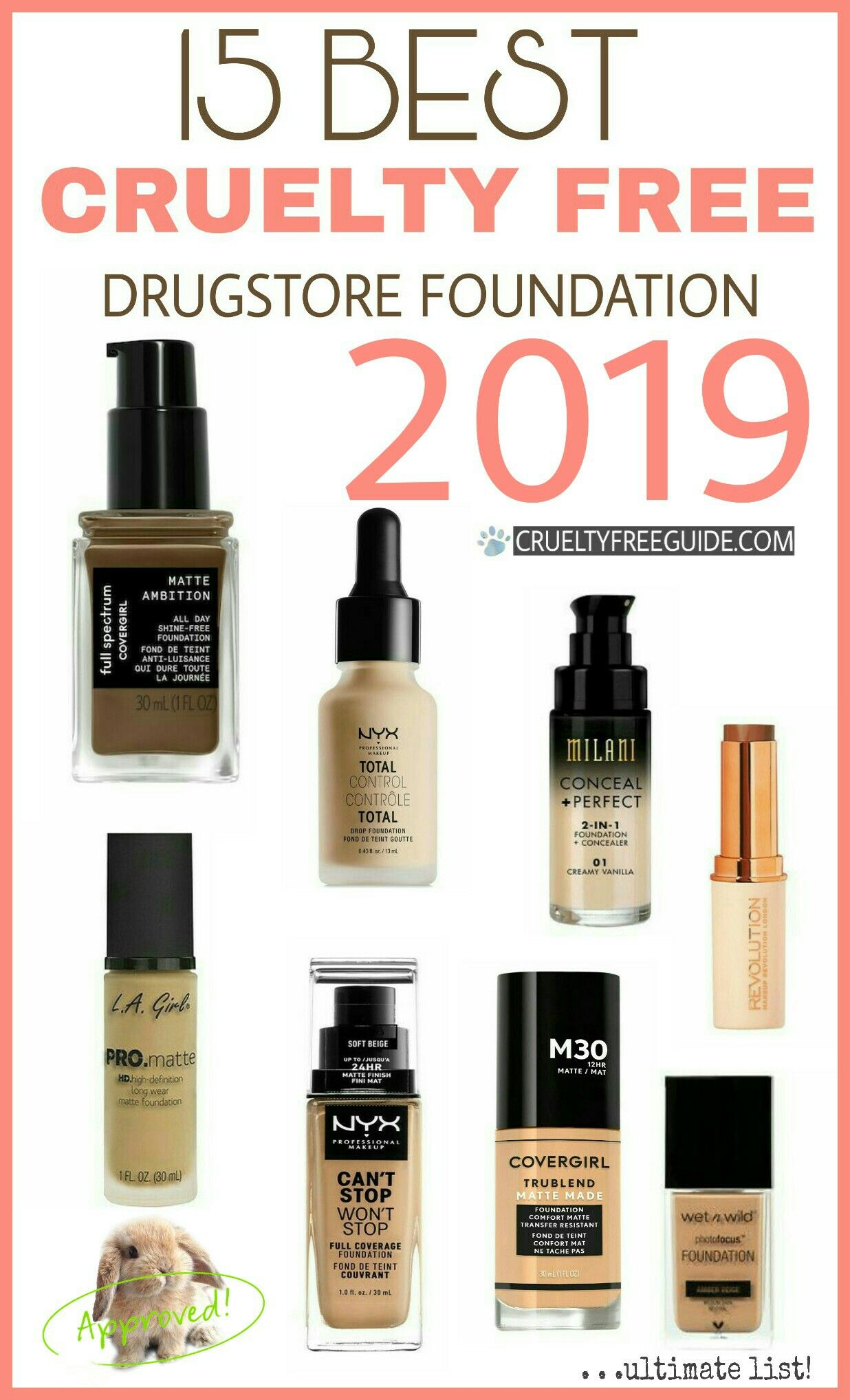Best Drugstore Foundation 2019 15 Amazing Drugstore Foundations That Are Cruelty Free *2019