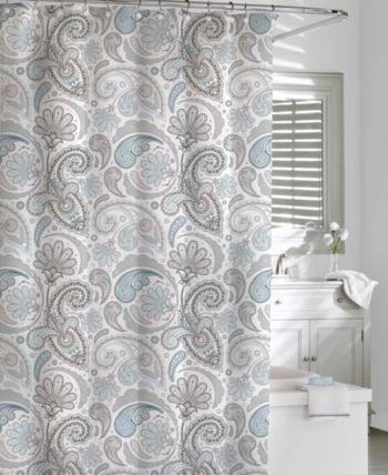 Cassadecor Cotton Printed Floral Swirls Shower Curtain Reviews