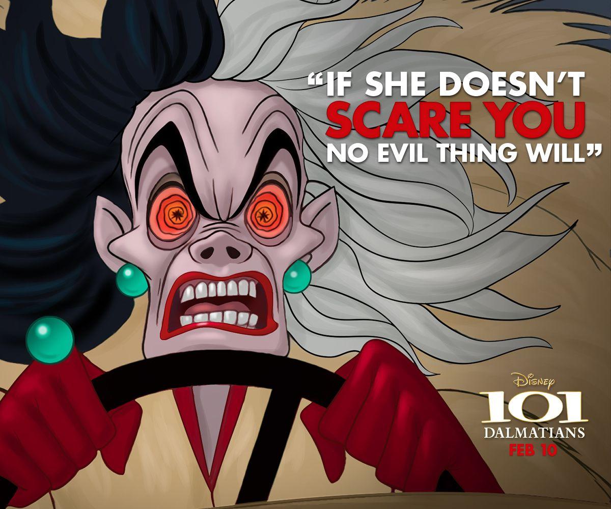To See Her Is To Take A Sudden Chill Cruella Cruella Disney