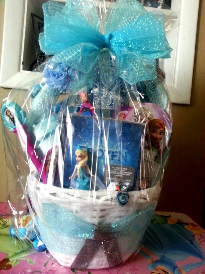Frozen gift basket made by normas unique gift baskets frozen easter basket negle Image collections