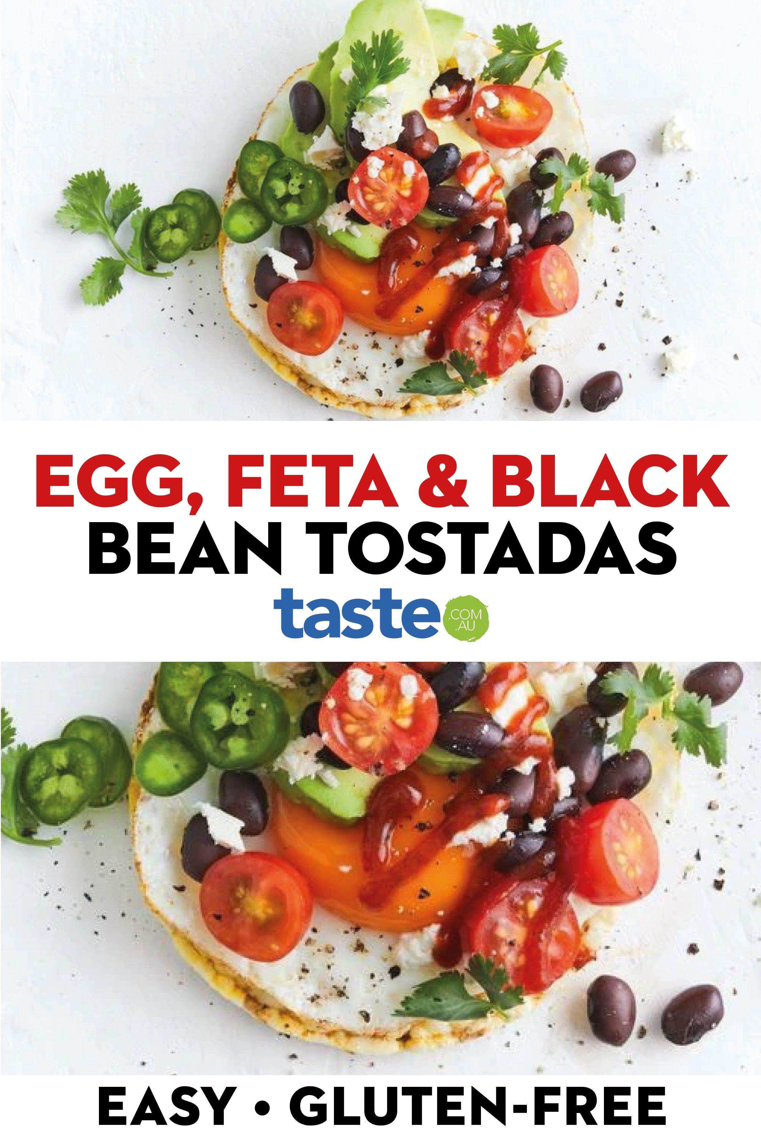 Easy Egg Feta And Black Bean Tostadas Recipe In 2020 Recipes Cooking Recipes Vegetarian Recipes