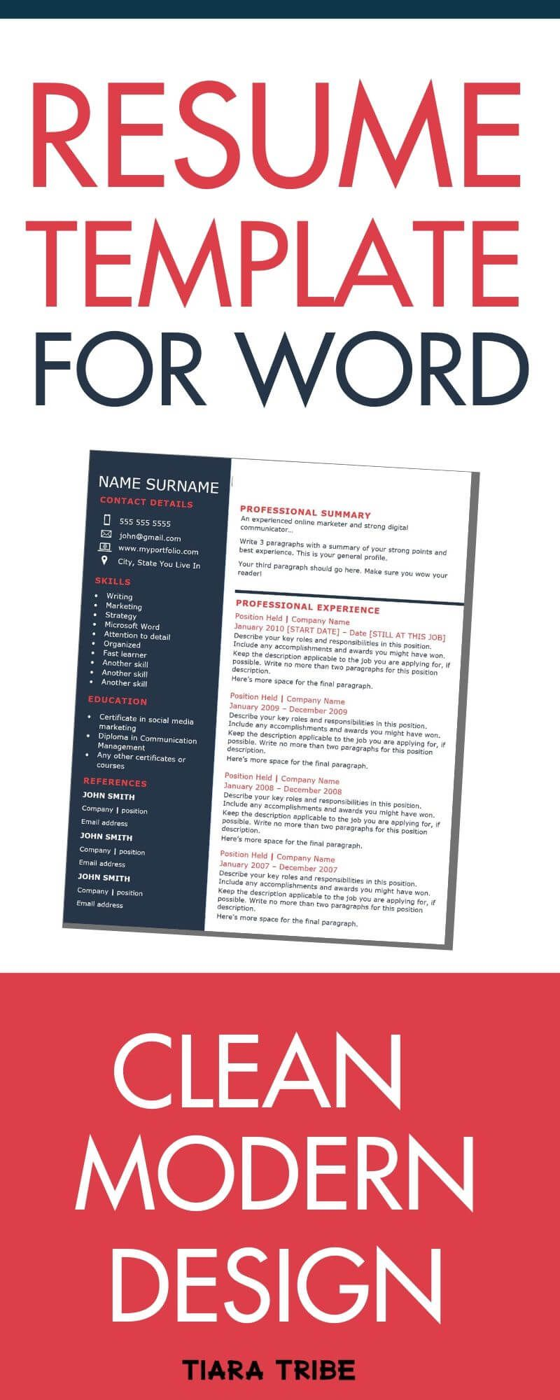 The best professional one page resume template ive ever