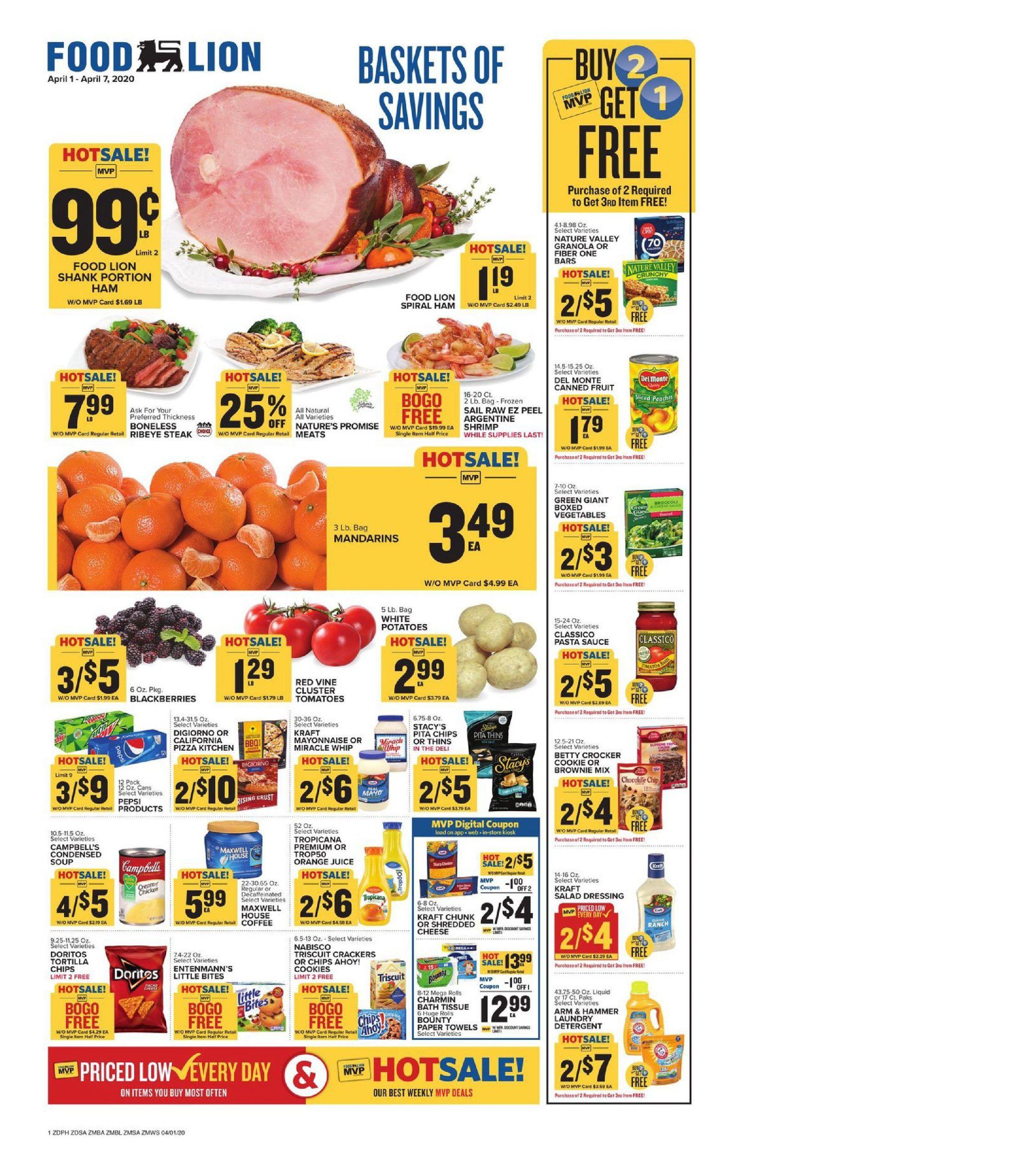 Food lion weekly ad apr 1 apr 7 2020 sneak peek preview
