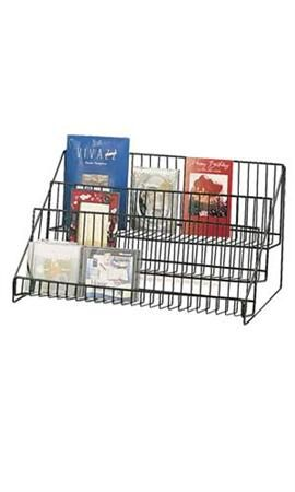 3 Tier Wire Countertop Stands Black Book Display Stand