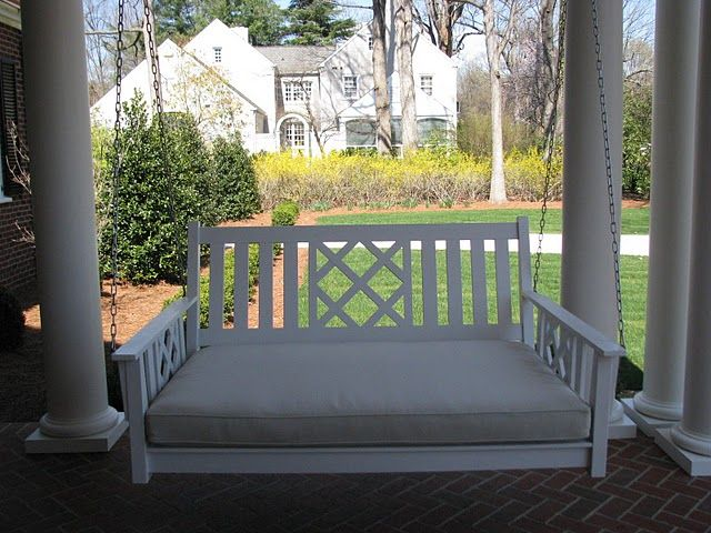 using the back as inspiration for porch railing porch on porch swing ideas inspiration id=96438