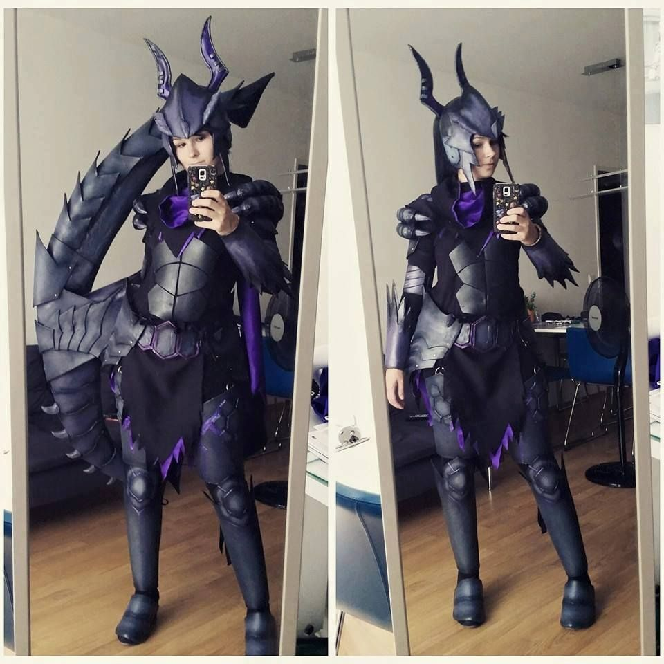 cosplay selfie gore magala gunner from monster hunter cosplayer: lux