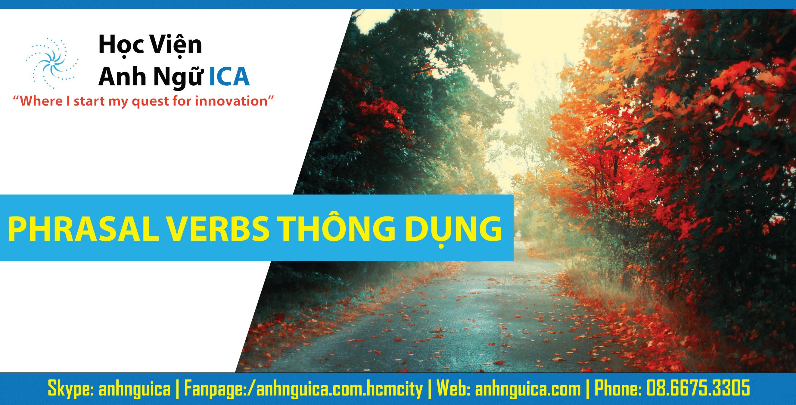 Phrasal verbs thông dụng hay dùng trong thi HSG và luyện thi ĐH.