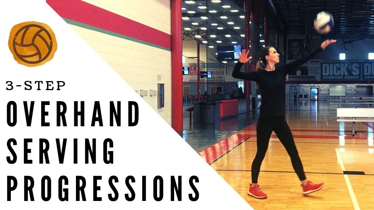 Teach How To Serve A Volleyball Volleyball Overhand Serving Progressions Coaching Volleyball Volleyball Practice Plans Volleyball Practice