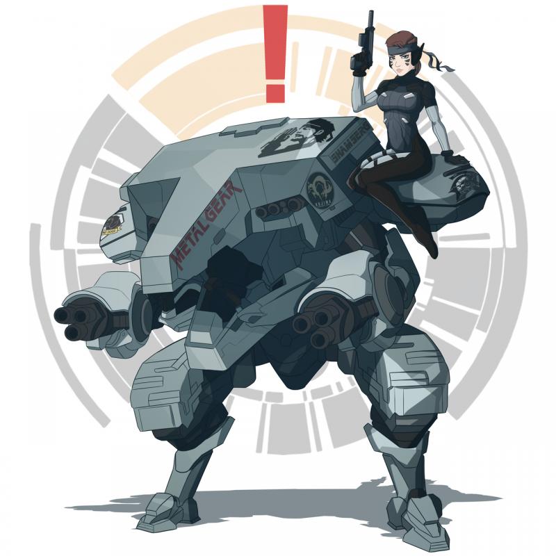 Metal Gear D.VA - Arte por Shamserg - Overwatch