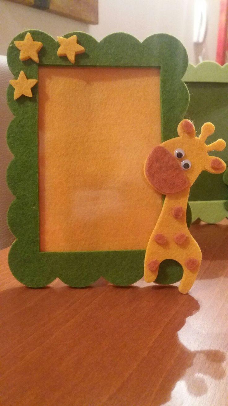 Giraffe fühlte Fotorahmen