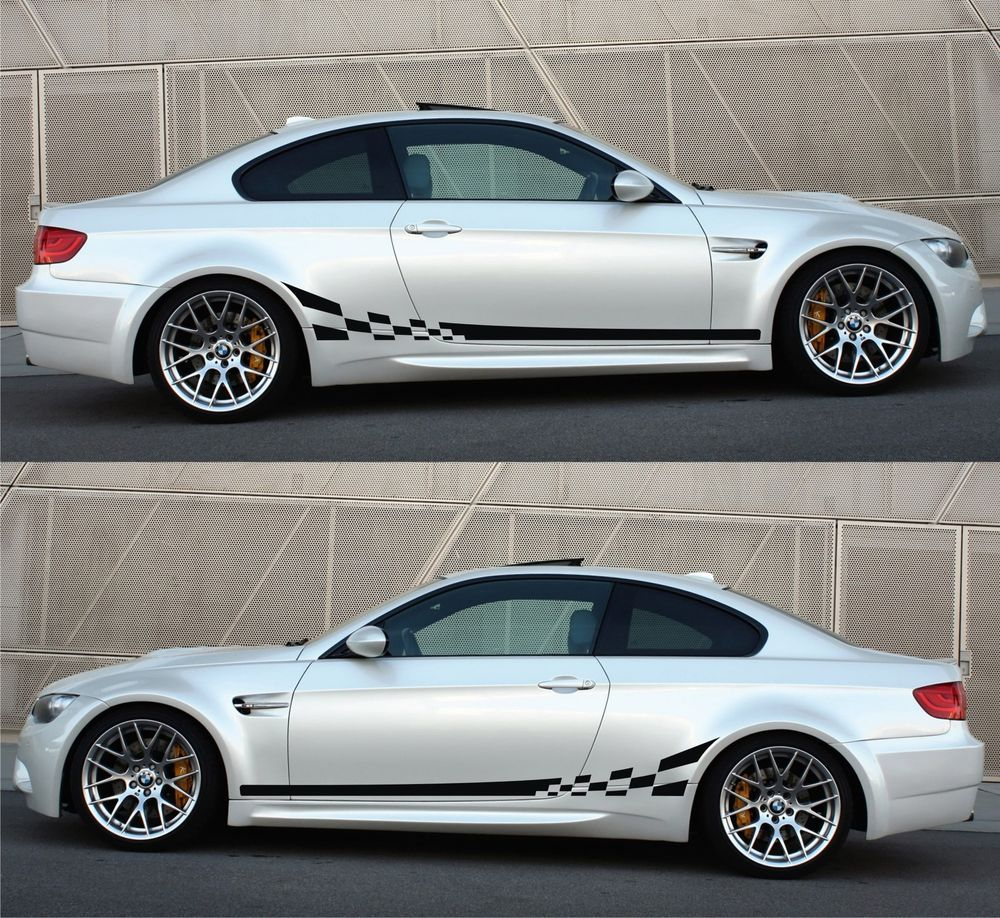 Bmw m3 e92 e93 racing stripes sticker decal sports turbocharged coupe 2dr speed