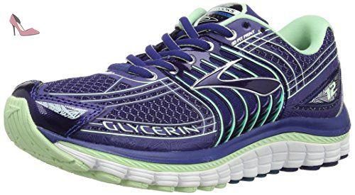 Brooks Launch 3, Chaussures de Running Compétition Homme, Bleu (Blau/Grün), 41 EU