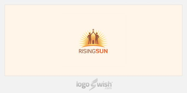 logo inspiration gallery: Rising Sun by Arnas Goldbergas