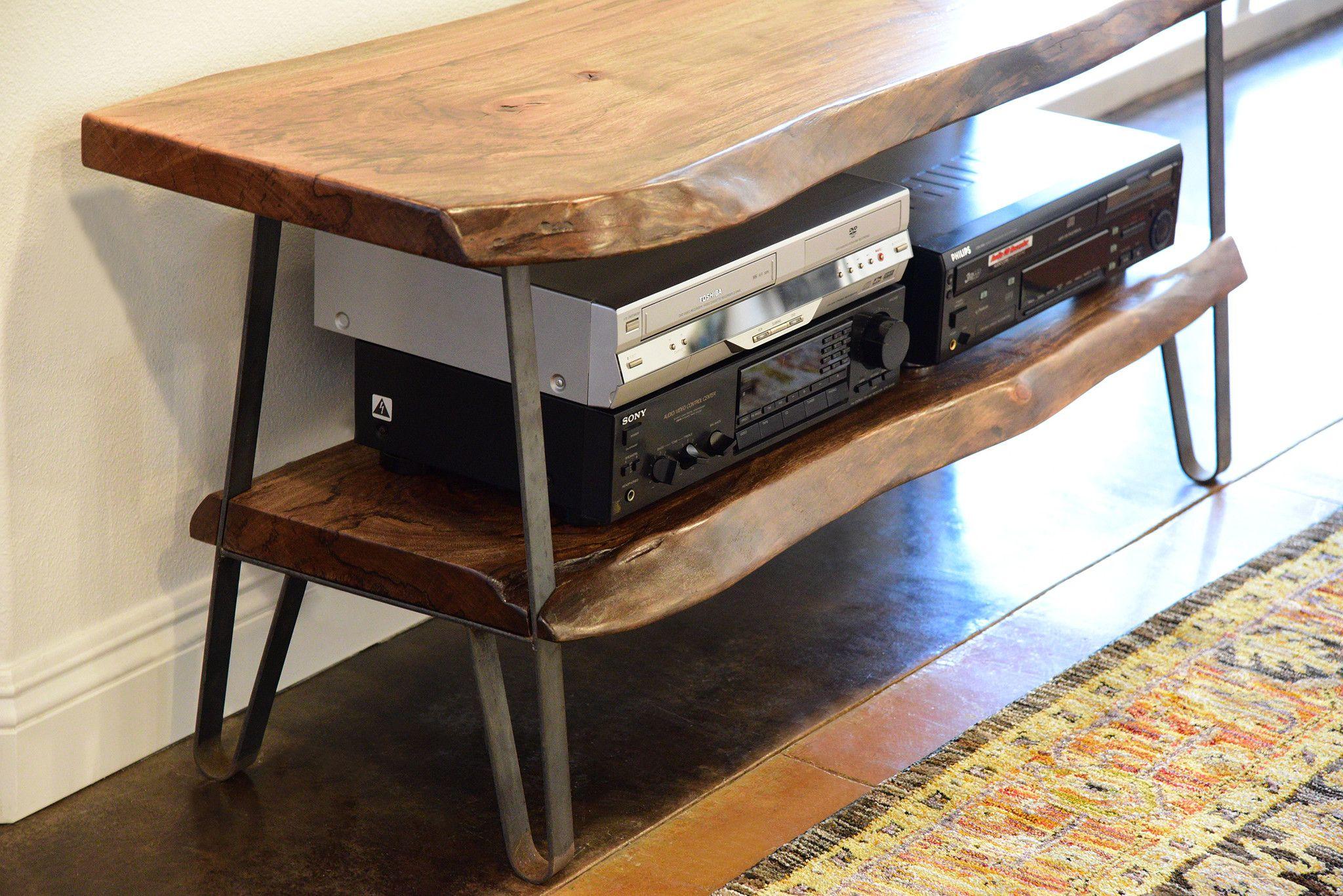 Amazing Industrial Modern Live Edge Slab Tv Stand D Modern Download Free Architecture Designs Grimeyleaguecom