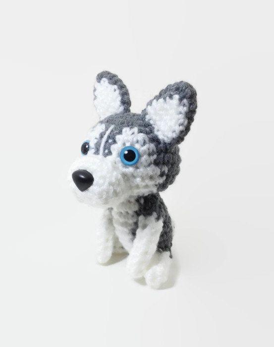 Husky siberiano cachorro Crochet peluche perro muñeca Amigurumi ...
