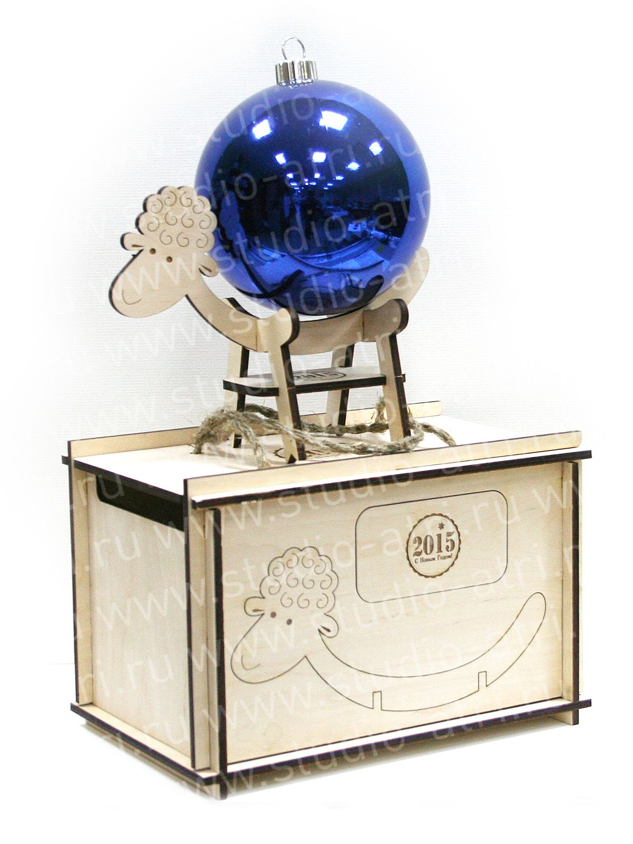 Новогодние сувениры - Деревянный сувенир, деревянная овечка, лазерная резка