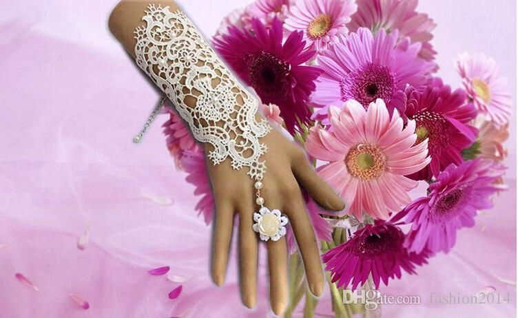 2015 Wedding Bridal Wedding Bridal Back Of The Hand Chain Bracelet With Ring Women Lace Gloves Wedding Accessories Evening Dresses From Fashion2014, $2.94 | Dhgate.Com