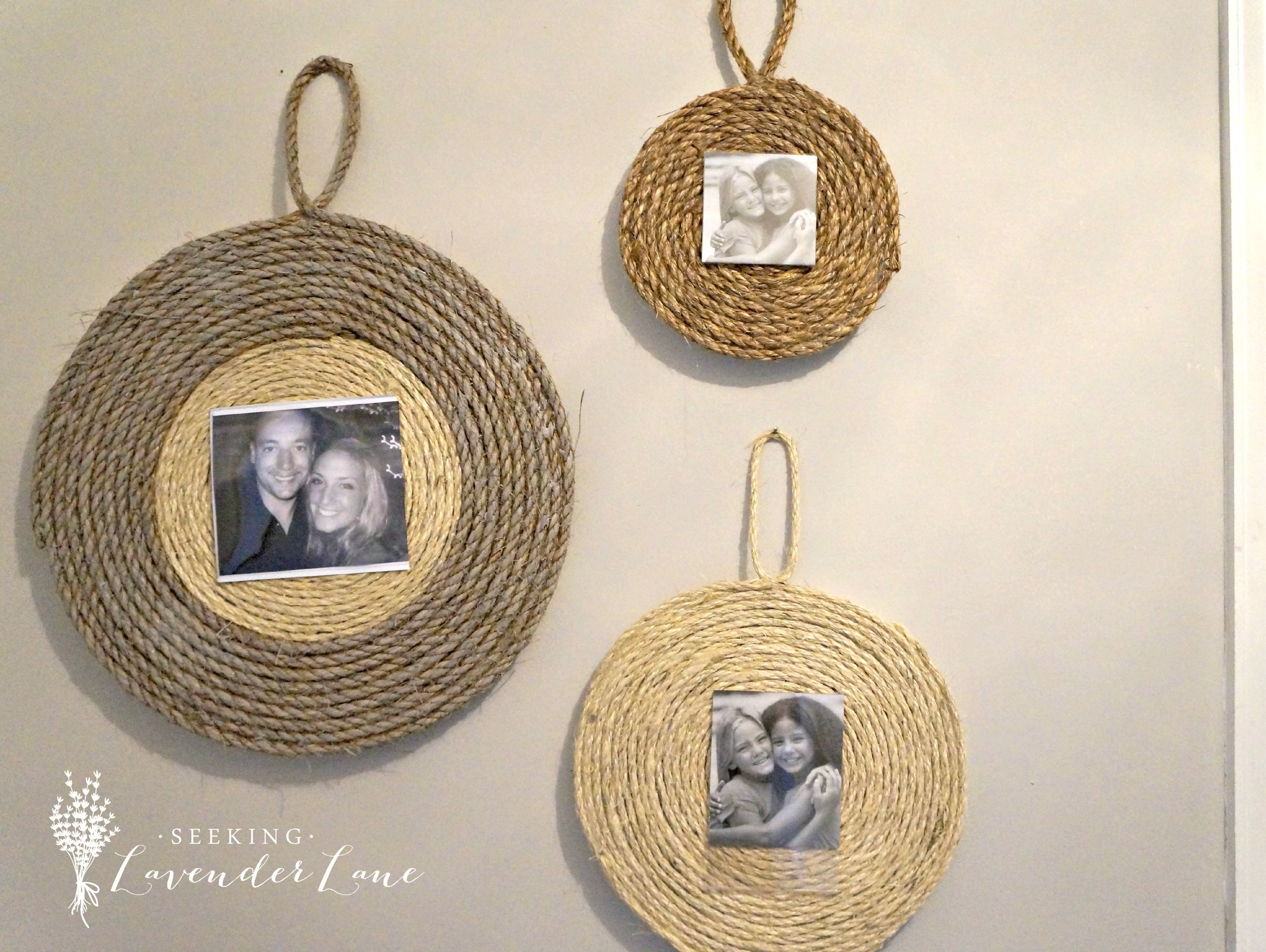 diy rope frame - Diy Photo Frames