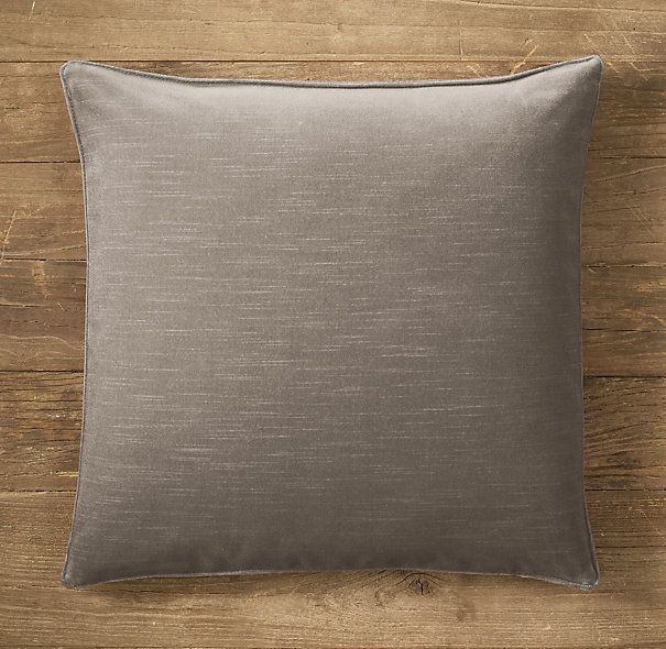 Custom Vintage Velvet Stitched Square Pillow Covers (Indigo, Slate Blue, Spruce)