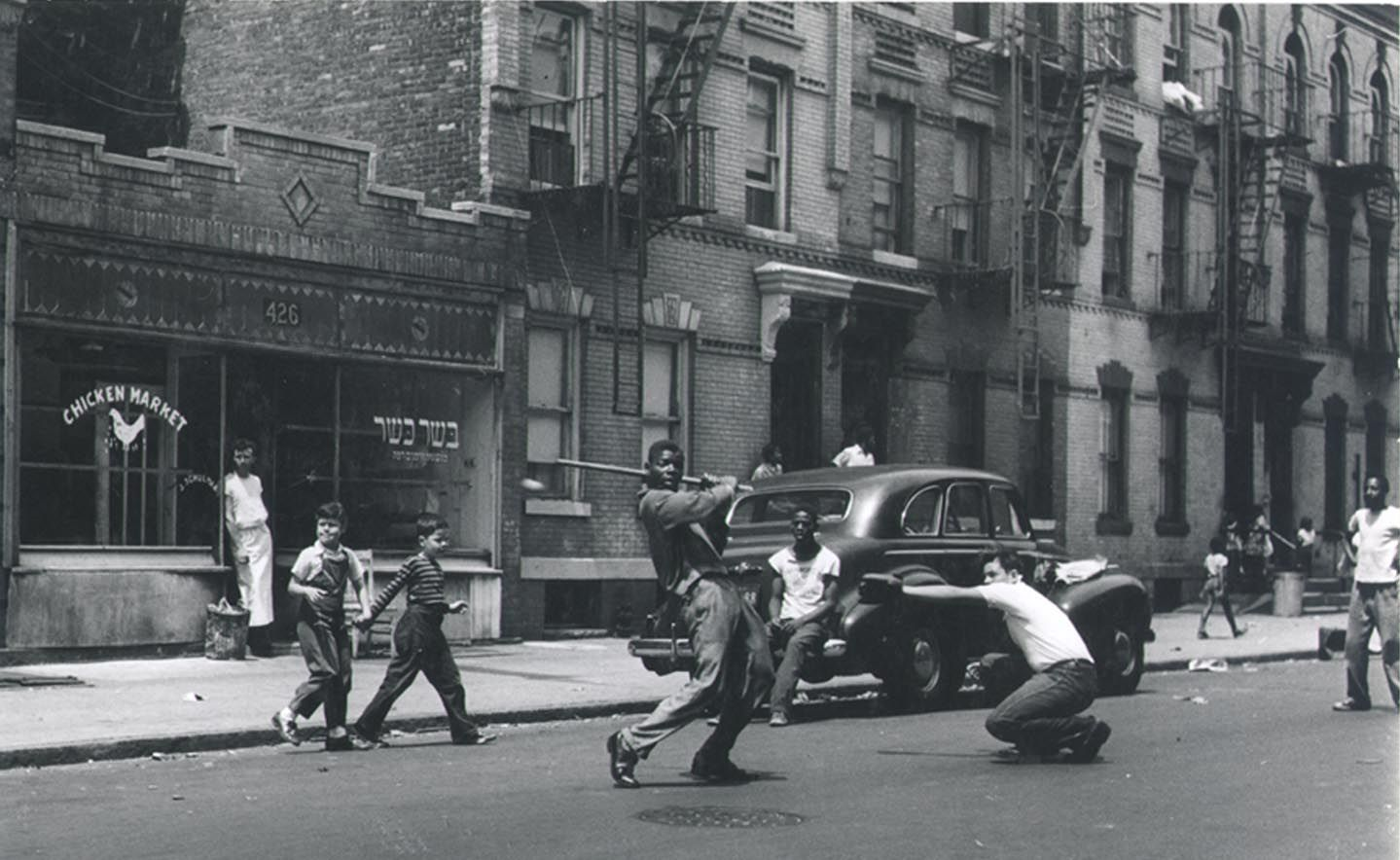 A game of Stickball is played. Brooklyn circa 1950s. | Retro ...