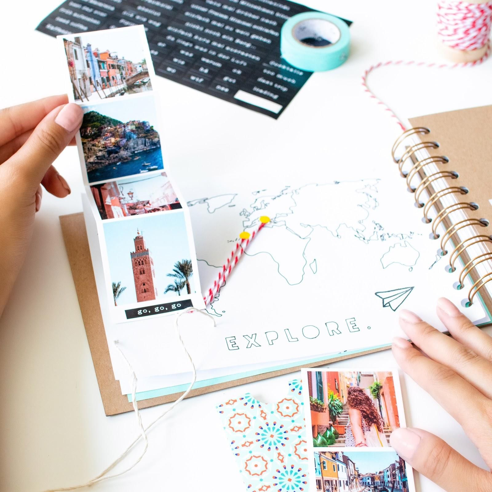 Great holiday memories? Check. Prints of those memories? Check. Now, learn to make a travel scrapbook out of your photos in our latest LALALAB. DIY vid.