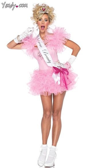 little miss supreme beauty pageant costume pink pageant girl costume toddlers and tiaras costume - Pageant Girl Halloween Costume