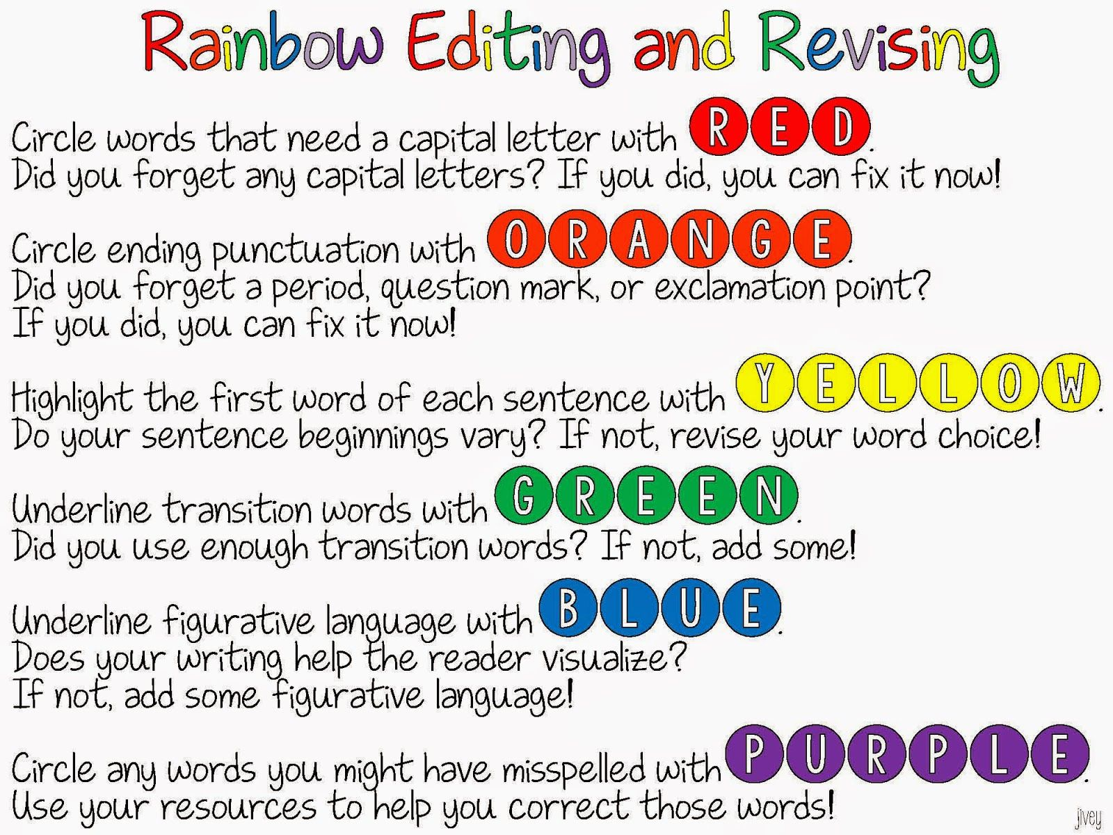 worksheet Editing Worksheets For 6th Grade rainbow editing and revising freebie students rainbows get it for free