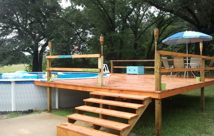 24 Foot Above Ground Pool Deck Plans Lanewstalk Com Pool Deck Plans Round Above Ground Pool Backyard Pool Landscaping