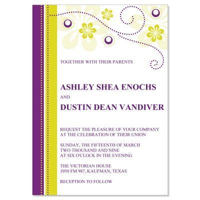 Purple Yellow Wedding Invitation Kit All Things Wedding