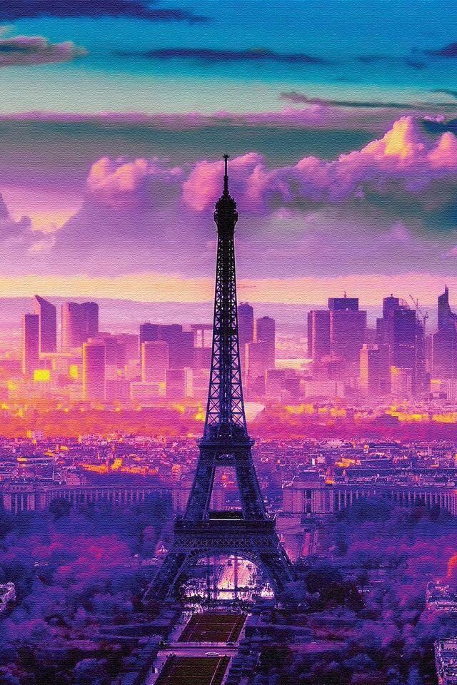 Paris Wallpaper Iphone Backgrounds Pink Eiffel Tower