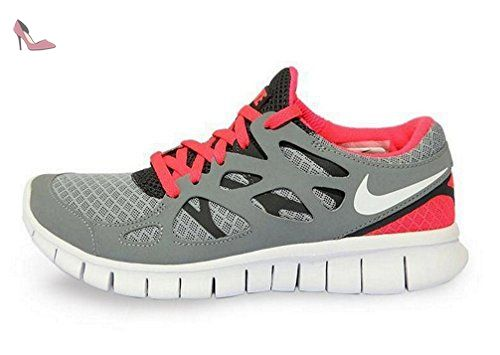 detailed look be5a5 9c22c Grey Nike Free Run 3 Womens Sun Red 510643 061   Nike Free Run 3   Pinterest