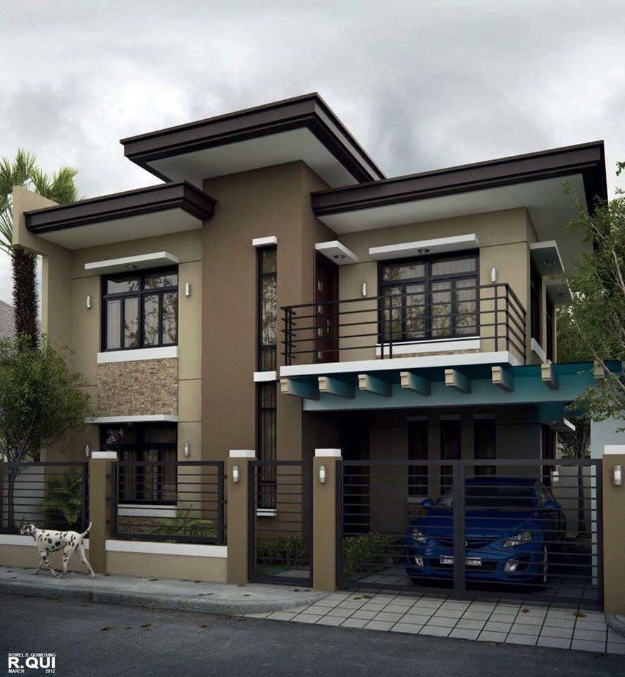 Simple neat and clean house exterior designs in 2019 - Simple modern house design ...